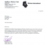 Proud to Be Involved with the Sudbury Shrine Club Fundraiser
